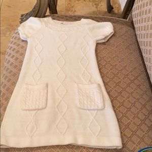 H&M's cream Sweater dress size 4/6